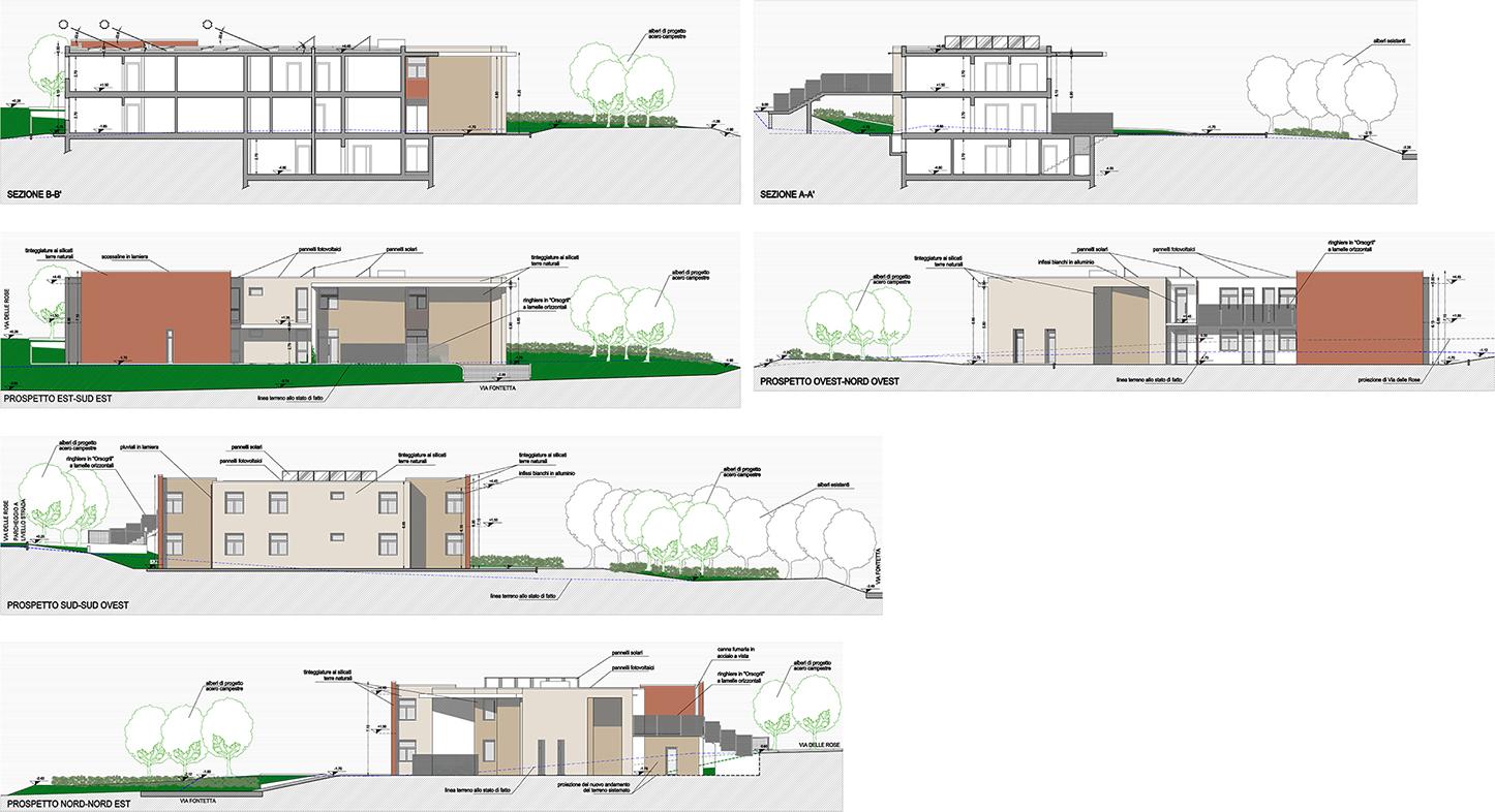 Prospetti casa simple immagine with prospetti casa for Progetto casa in legno dwg